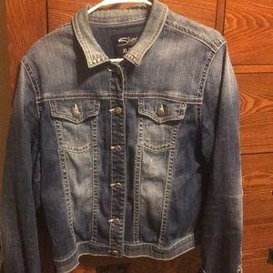 Silver Jeans - denim jean jacket - size L/XL